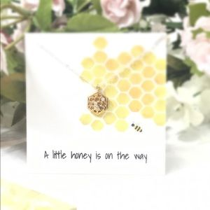 Gold & Silver Honeycomb Sterling Silver Necklace
